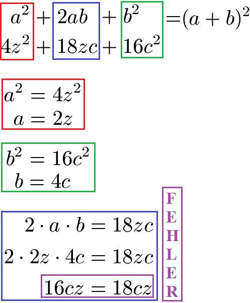 Binomische Formeln rückwärts: Faktorisieren / Ausklammern
