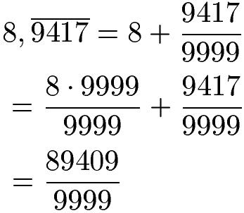 Reinperiodische Dezimalzahlen Beispiel 2c
