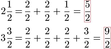 Gemischte Brüche / Gemischte Zahlen