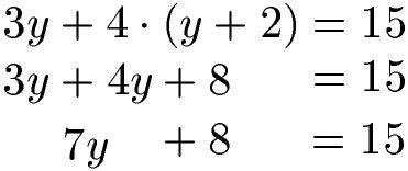 Gleichung auflösen / umstellen