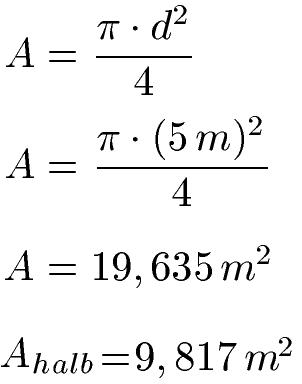 Fläche Kreis / Kreisfläche