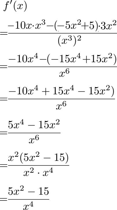 Kurvendiskussion 3 Beispiel 4 Grades Casio 8