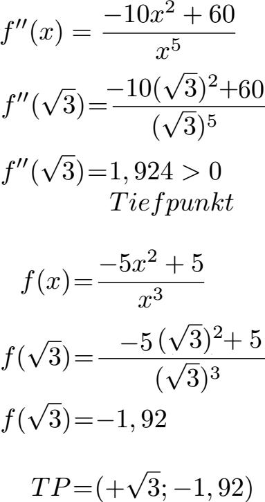 Kurvendiskussion Beispiel Mit Ausfuhrlichen Schritten 10 0
