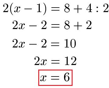 Lineare Gleichungen lösen