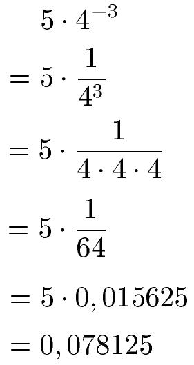 Potenzen negativ (Exponent negativ)