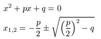 Pq Formel Losungsgleichung