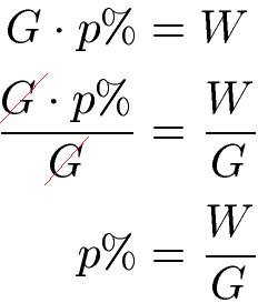 Prozentrechnung Formeln Prozentformel