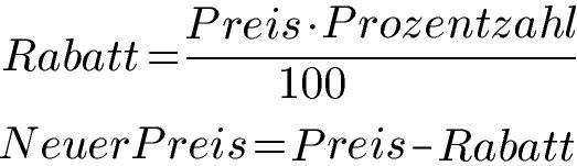 rabatte berechnen formel beispiele und dreisatz