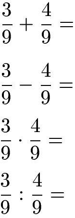 Rationale Zahlen