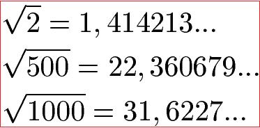 Irrationale Zahlen 1 2