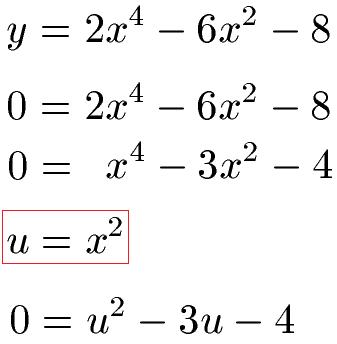 biquadratische gleichungen