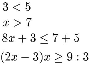 Ungleichungen lösen