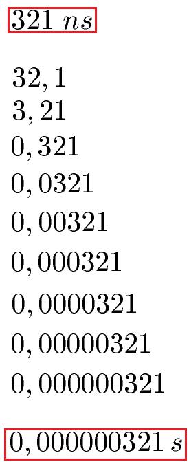 Zehnerpotenzen kleine Zahlen