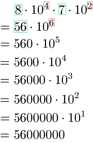 Zehnerpotenzen rechnen: Addition, Subtraktion, Multiplikation, Division