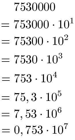 Zehnerpotenzen umrechnen / umwandeln (mit Einheiten)